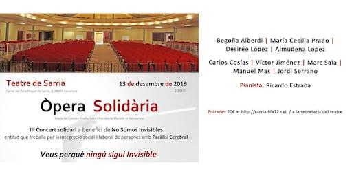 Concierto de Ópera Solidária - Fundació No Somos Invisibles