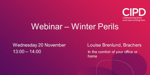 Webinar - Winter Perils