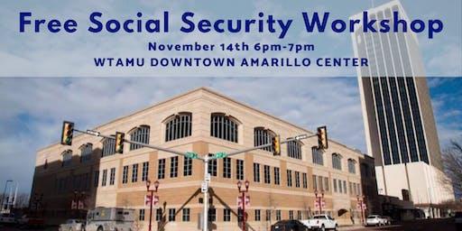 Free Social Security Workshop at Amarillo Center Downtown Center WTAMU, Nov. 14th