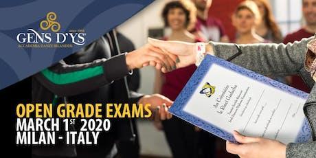 Grade Exams 2020 tickets