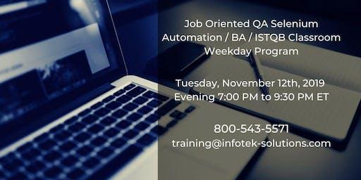 Launching New Career Change Job-Oriented QA Automation / BA Weekday Program