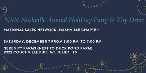 NSN Nashville 2019 Annual HoliDay Event & Toy Drive
