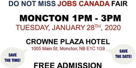 Moncton Job Fair – January 28th, 2019 tickets