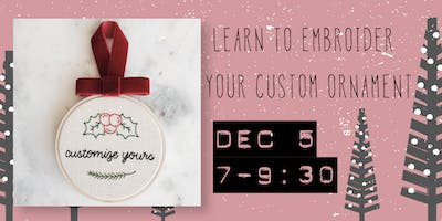 Holiday Embroidery Workshop