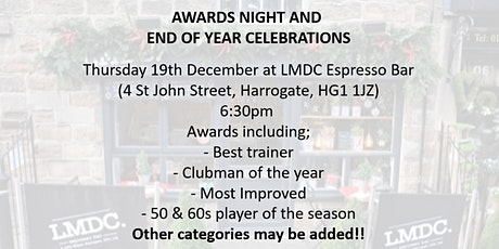 Harrogate Town AFC Walking Football Awards and Celebration 2019 tickets