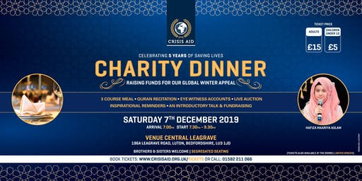 Charity Dinner 2019 - Raising Funds For Our Global Winter Appeal