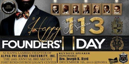 26th Annual Alpha Phi Alpha Founder's Day Breakfast