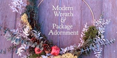 Tesoro Flowers Workshop Modern Wreath & Package Adornment