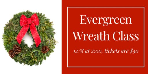 Evergreen Wreath Class at White Tail Run Winery