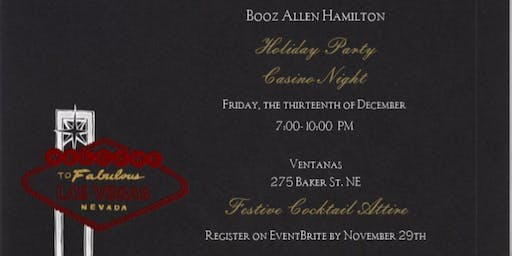 Booz Allen Atlanta Holiday Party