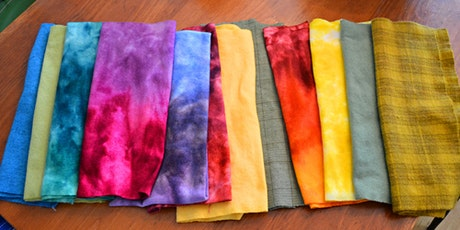 Beginner Dye Class - Dyeing Wool Fabric for Rug Hooking/Applique/Crafting tickets