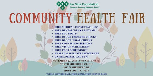 Ibn Sina Foundation Fall Community Health Fair