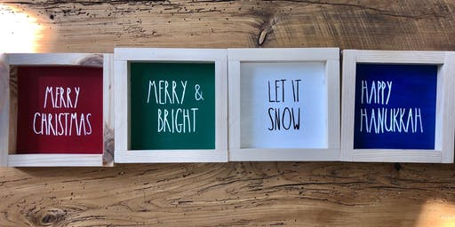 Rae Dunn Inspired Winter Holiday Signs