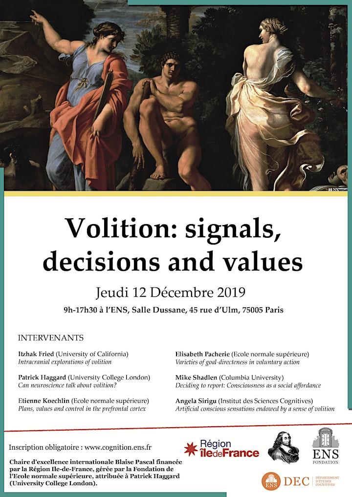 Image pour Volition: signals,  decisions and values