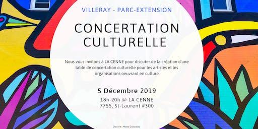 Création d'une Table de concertation culturelle Villeray - Parc-Extension