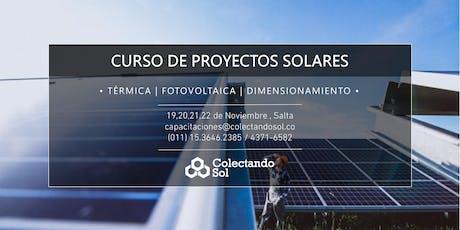 Curso de Proyectos Solares Salta // Noviembre 2019 entradas