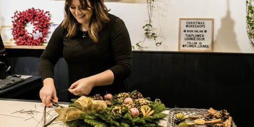 Christmas Wreath Workshop At The Flower Lounge