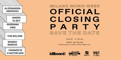 Billboard Milano Music Week Official Closing party
