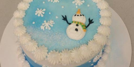 Winter Wonderland Cake Decorating