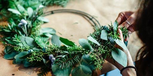 Holiday Wreath Workshop at The Piranha Shop