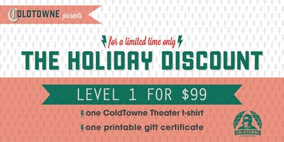 Level 1 Improv/Sketch $99 Deal! (Through Monday Dec 13)