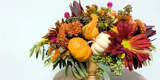 DIY Fall Pumpkin and Gourd Table Arrangement Class