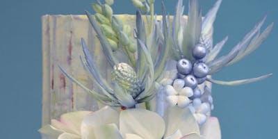 Hydrangea, Sea Holly, Buds & Berries - Wired Sugar Flowers