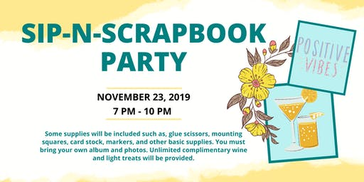 Sip-N-Scrapbook Party