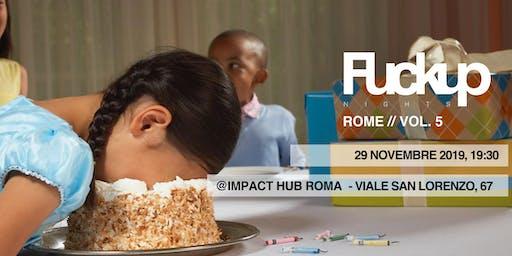 Fuckup Nights Rome // Vol.5