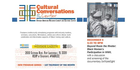 """The African-American Research Library and Cultural Center Presents:  """"Cultural Conversations at the Center"""" Series tickets"""