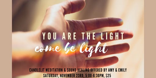 Candlelit Aerial Meditation & Sound Healing with Amy & Emily