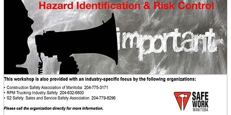Hazard Identification and Risk Control - Winnipeg tickets