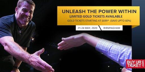 Buy Most Popular Tony Robbins UPW Birmingham 2020 Event - Gold Ticket
