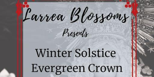 Winter Solstice Evergreen Flower Crown