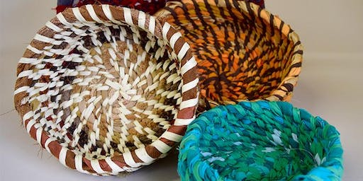 Coiled Fabric Baskets workshop at Ragfinery