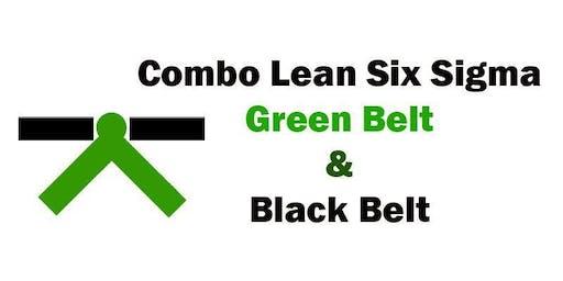 Combo Lean Six Sigma Green Belt and Black Belt Certification Training in Pierre, SD
