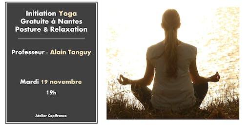 Initiation gratuite de Yoga à Nantes : Posture et Relaxation