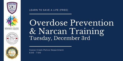 Solicitor Scarlett Wilson, Chief LJ Roscoe, The Kennedy Center and WakeUp Carolina Sponsor Overdose Prevention & Narcan Training Session in Goose Creek