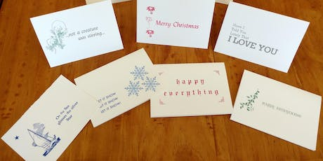 Holiday Card Class 2019: An Introduction to Letterpress tickets