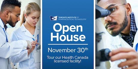 Tour Health Canada Licensed Facility and learn about pharma programs tickets