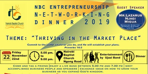 Nairobi Baptist Church Entrepreneurs Networking Dinner