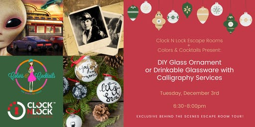 DIY Glass Ornament or Drinkable Glassware with Calligraphy Services!