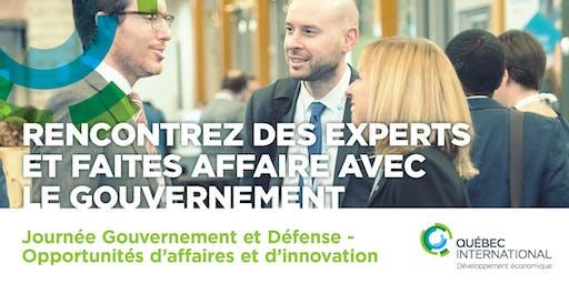 Journée Gouvernement et défense – Opportunités d'affaire et d'innovation (Rencontrez des experts et faites affaire avec le gouvernement)