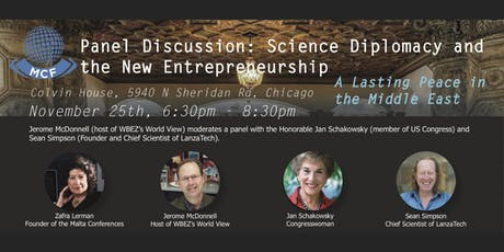 Science Diplomacy and the New Entrepreneurship: A Lasting Peace in the Middle East tickets
