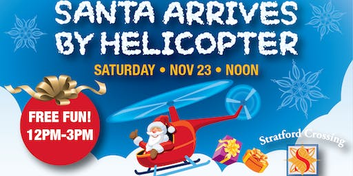Santa Will Arrive from the Sky in Bloomindale