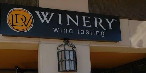 Festive Wine Glass Painting at LDV Wine Tasting Room