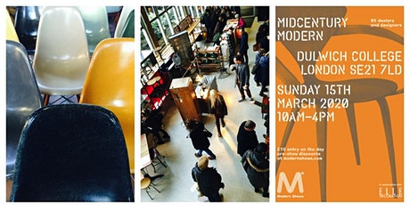 Midcentury Modern® Vintage & Contemporary Interior Show Dulwich Peckham Forest Hill tickets