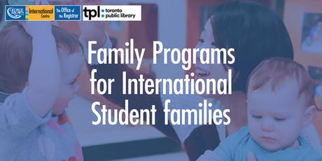 Family programs for International Students and their families tickets