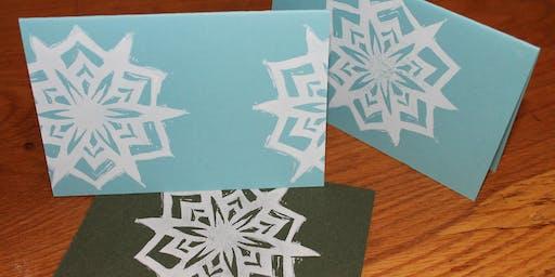 Block Printing: Holiday Cards