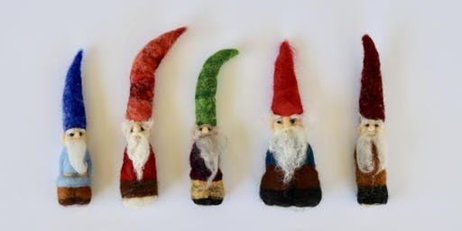 Needle Felted Gnomes workshop at Ragfinery